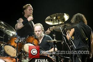 Metallica  performing a special album lunch concert at the O2 Arena London, England - 15.09.08