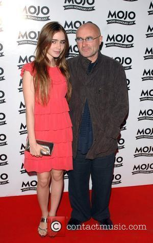 Phil Collins and daughter Lily Collins Mojo Honours List held at the Brewery - Arrivals London, England - 16.06.08