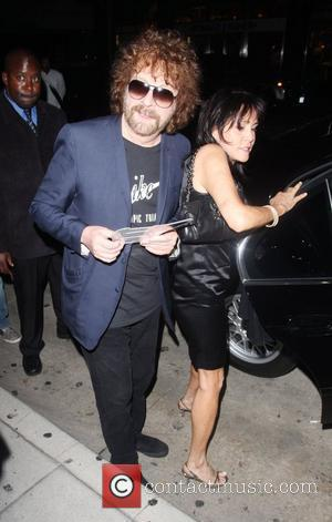 Jeff Lynne of ELO leaving Mr Chow restaurant Los Angeles, California - 13.07.08