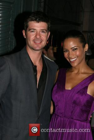 Robin Thicke and Paula Patton Prada presents a screening of 'Fallen Shadows' at the Prada Epicenter - outside arrivals New...