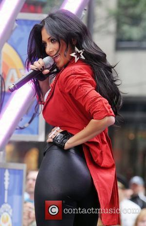 Nicole Scherzinger of the Pussycat Dolls performs live on 'The Today Show's Summer Concert Series' at Rockefeller Plaza New York...