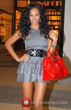 Solange Knowles outside the MTV TRL Studios in Times Square New York City, USA - 26.08.08