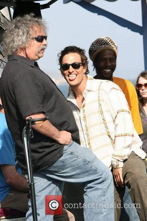Matthew McConaughey at the Surfrider Art and Music Festival on Malibu Pier. Matthew joined the band for a performance....