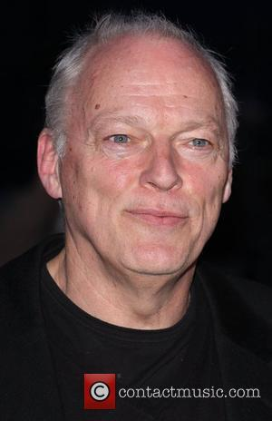 David Gilmour 'The Age of Stupid' UK film premiere held at Leicester Square gardens in a solar powered tent -...