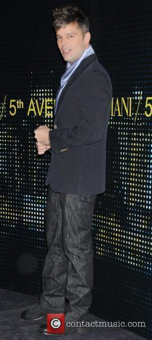 Ricky Martin New Armani store opening on 5th Avenue New York City, USA - 17.02.09