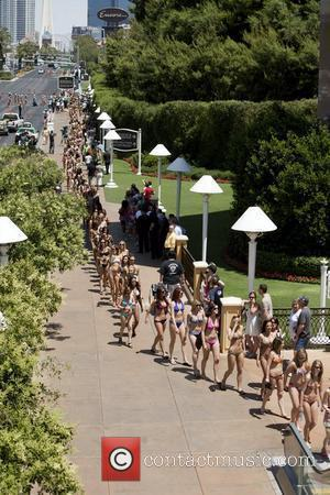 The world's largest bikini parade, breaking a Guinness Book World record. The parade along with other festivities mark the 50th...