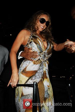 Mariah Carey  leaving Roberto Cavalli's yacht during the 2009 Cannes International Film Festival - Day 4  Cannes, France...