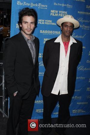 Santiago Cabrera and guest The 46th New York Film Festival - 'Che/Guerrilla' premiere at the Ziegfeld Theater - Arrivals New...