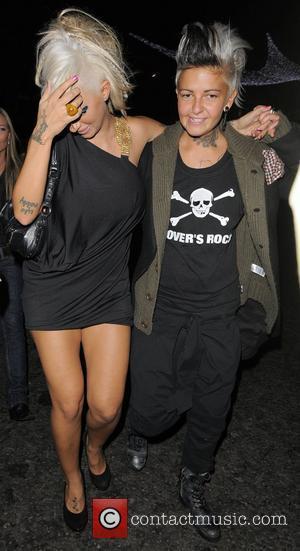 Jodie Marsh and her girlfriend Nina, leaving Chinawhite nightclub London, England - 13.11.08