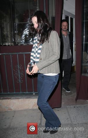 Courtney Cox Arquette and David Arquette leaving Il Sole restaurant  Los Angeles, California - 26.12.08
