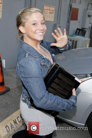 Olympic gold-medal gymnast Shawn Johnson leaving her first practice for the new season of Dancing with the Stars  Los...