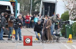 David Tennant filming on the set of the BBC's 'Doctor Who' Cardiff, Wales - 06.04.09