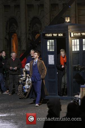 David Tennant and Lindsay Duncan  filming a 'Doctor Who' special Wales, England - 27.02.09
