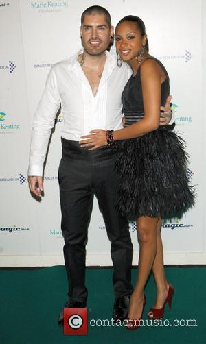 Shane Lynch & Wife The Emeralds and Ivy Ball for Cancer Research UK, held at Battersea Park London, England -...