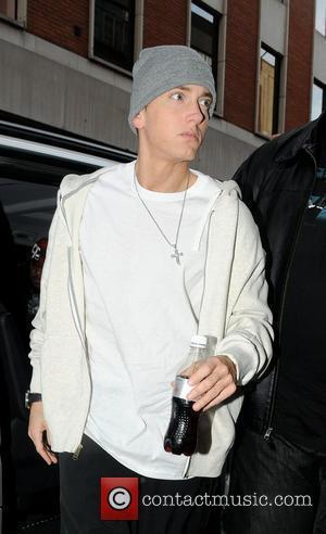 Eminem arriving at a recording studio London, England - 12.05.09