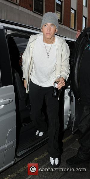 Eminem arrives at a recording studio London, England - 12.05.09
