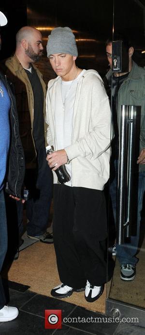 Eminem leaving a recording studio London, England - 12.05.09