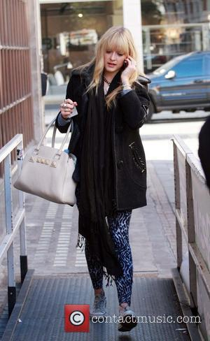 Fearne Cotton arriving at BBC Radio 1 studios London, England - 28.10.08