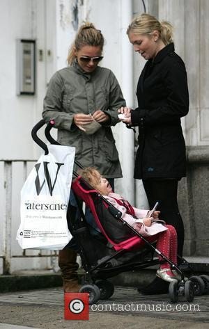 Geri Halliwell out and about with her daughter Bluebell Madonna Halliwelll in London.  Lodnon, England - 17.04.09