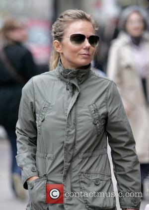 Geri Halliwell out and about with her daughter London, England - 17.04.09