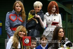Nadine Coyle, Kimberley Walsh, Sarah Harding, Nicola Roberts and Cheryl Cole of Girls Aloud  at the launch of an...