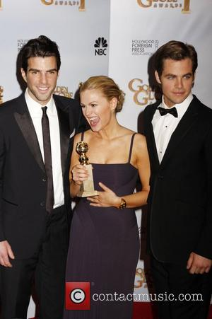 Zachary Quinto, Anna Paquin and Chris Pine 66th Annual Golden Globe Awards 2008 - Press Room held at the Beverly...