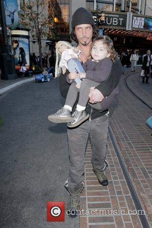 Chris Cornell visiting Santa's Grotto at The Grove with his family  Los Angeles, California - 23.12.08