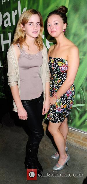 Emma Watson and Cast Actress Kira Sternbach attend the 'In a Dark Dark House' Press Night held at the Almedia...