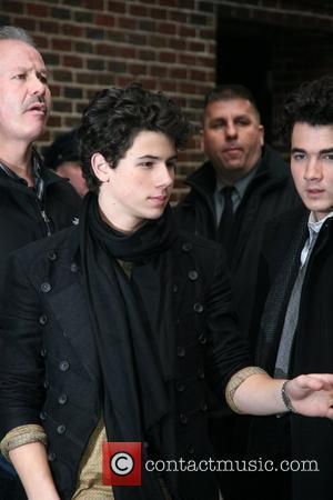 Nick Jonas of the Jonas Brothers outside the Ed Sullivan Theater for 'The Late Show with David Letterman' New York...