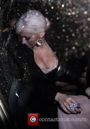 Christina Aguilera Celebrities at L'Atelier restaurant London, England - 16.10.08