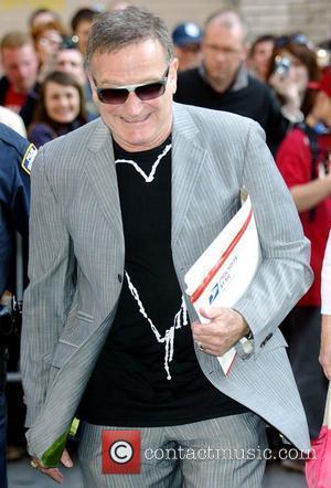 Robin Williams outside Ed Sullivan Theatre for the 'Late Show With David Letterman' New York City, USA - 13.05.09