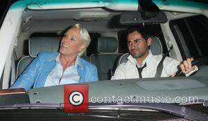 Brigitte Nielsen leaving Madeo restaurant after having dinner with her husband Mattia Dessi Los Angeles, California - 10.05.09