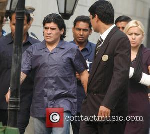 Diego Maradona Denies Hitting Ex-fiancee After Damning Video Footage Leaks