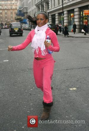 Melanie Brown on her way to a restaurant during a break from promoting her new fitness DVD 'Totally Fit' London,...