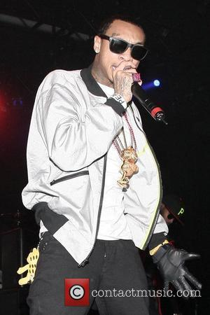 Tyga  performing live at Nokia Theatre in Times Square New York City, USA - 29.10.08