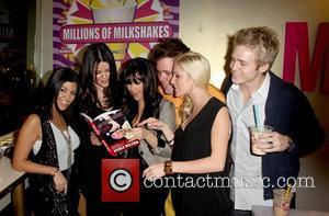 Kourtney Kardashian, Khloe Kardashian, Perez Hilton, Kim Kardashian, Heidi Montag and Spencer Pratt visit Millions of Milkshakes in West Hollywood....
