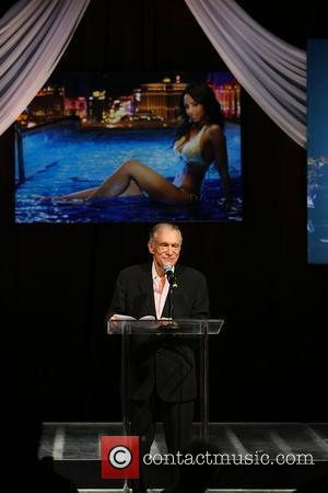 Hugh Hefner Playboy Playmate of The Year 2009 held at The Palms Hotel Casino Las Vegas, Nevada - 02.05.09