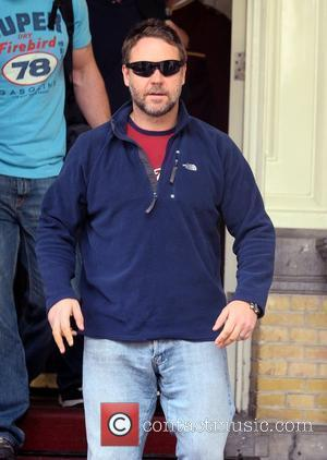 Russell Crowe leaving the Amstel hotel Amsterdam, Holland - 03.05.09