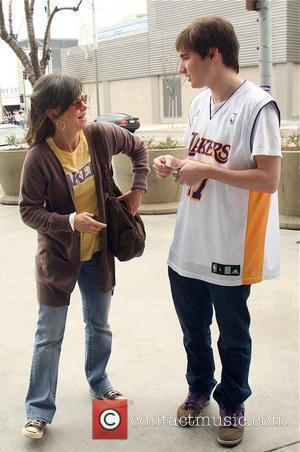 Sally Field, Her Son Samuel Greisman At A Lakers Game At The Staples Center and Staples Center