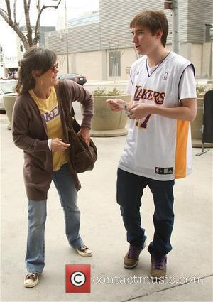 Sally Field and her son Samuel Greisman at a Lakers game at the Staples Center Los Angeles, California - 15.03.09