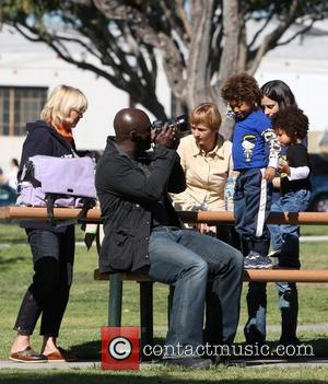 Seal, Henry Samuel, Johan Samuel Seal takes his children to a soccer practice at a park in West Hollywood Los...
