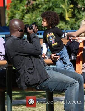 Seal, Johan Samuel Seal takes his children to a soccer practice at a park in West Hollywood Los Angeles, California...