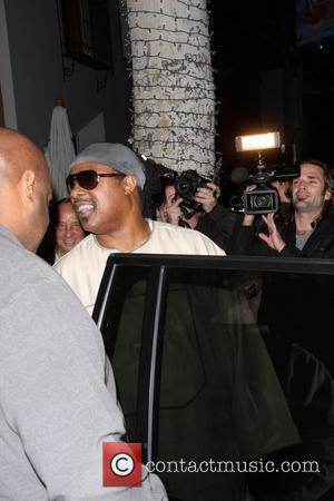 Stevie Wonder arriving at Prego Restaurant with his wife. Los Angeles, California - 20.11.08