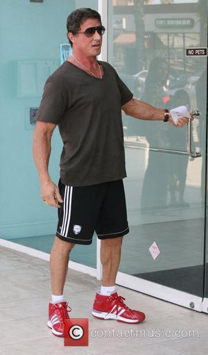 Sylvester Stallone  visiting a Santa Monica Clinic. Santa Monica, California, USA - 26.10.08