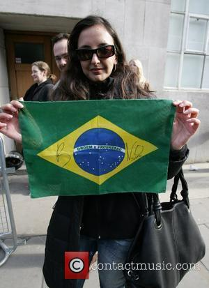 U2 fans wait outside before U2's performance on Radio 1's Live Lounge London, England - 27.02.09