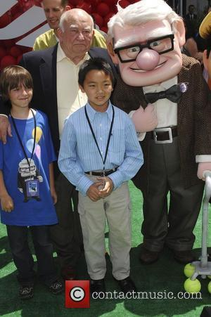 Ed Asner and Jordan Nagai Los Angeles Premiere of 'Up' held at The El Capitan Theatre. Hollywood, California, USA -...