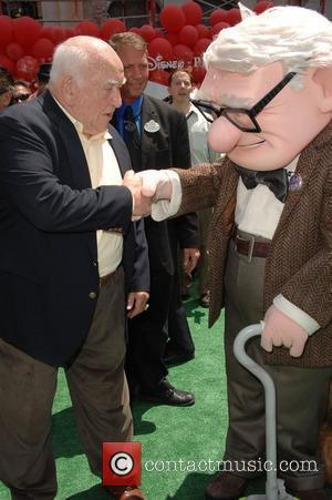 Ed Asner and Carl Fredericksen Los Angeles Premiere of 'Up' held at The El Capitan Theatre. Hollywood, California, USA -...