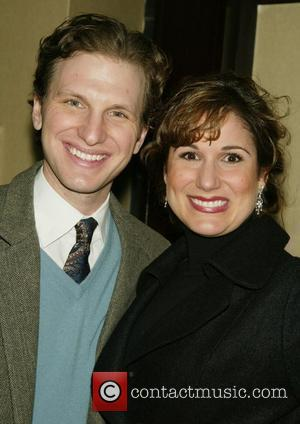Sebastian Arcelus and his wife Stephanie J.Block Opening Night of the Broadway musical 'White Christmas' at the Marquis Theatre -...