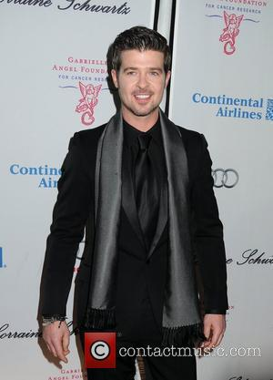 Robin Thicke 2009 Angel Ball held at Cipriani Wall Street - Arrivals New York City, USA - 20.10.09