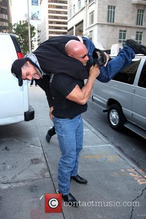 Bill Goldberg picks up a fan outside his hotel New York City, USA - 20.10.09